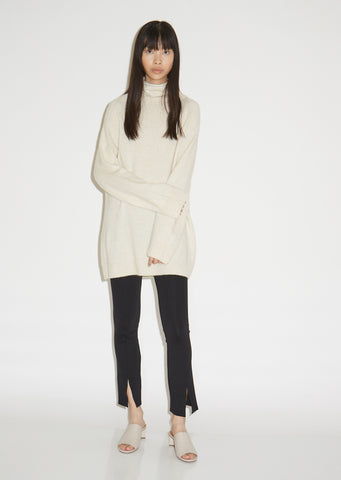 Mandel Airy Cashmere Turtleneck
