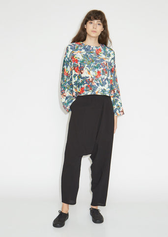 Asymetrical Cotton Silk Pants