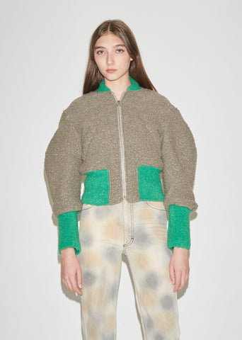 Boiled Wool Bomber