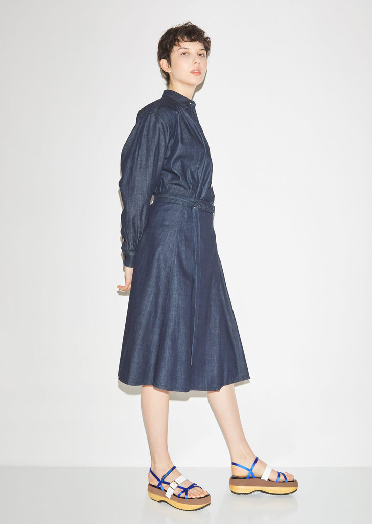 Light Indigo Twill Cotton Skirt