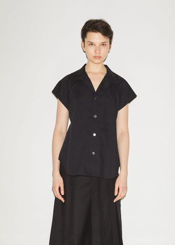Open-Necked Button Front Shirt
