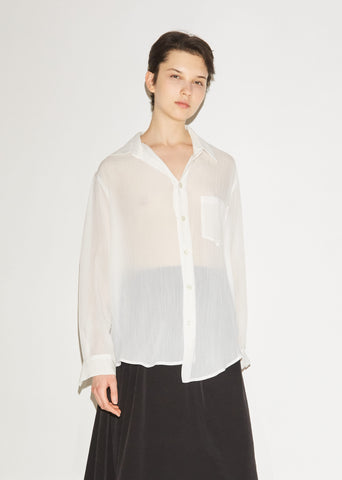 Asymmetric Button Front Shirt
