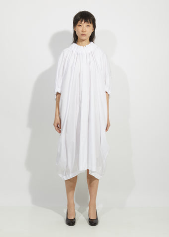 Cotton Broadcloth Ruched Dress