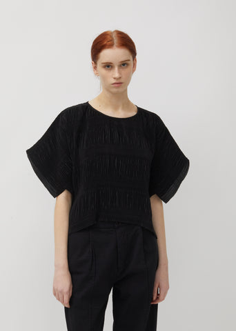 No.3 Pleated Crepe Top