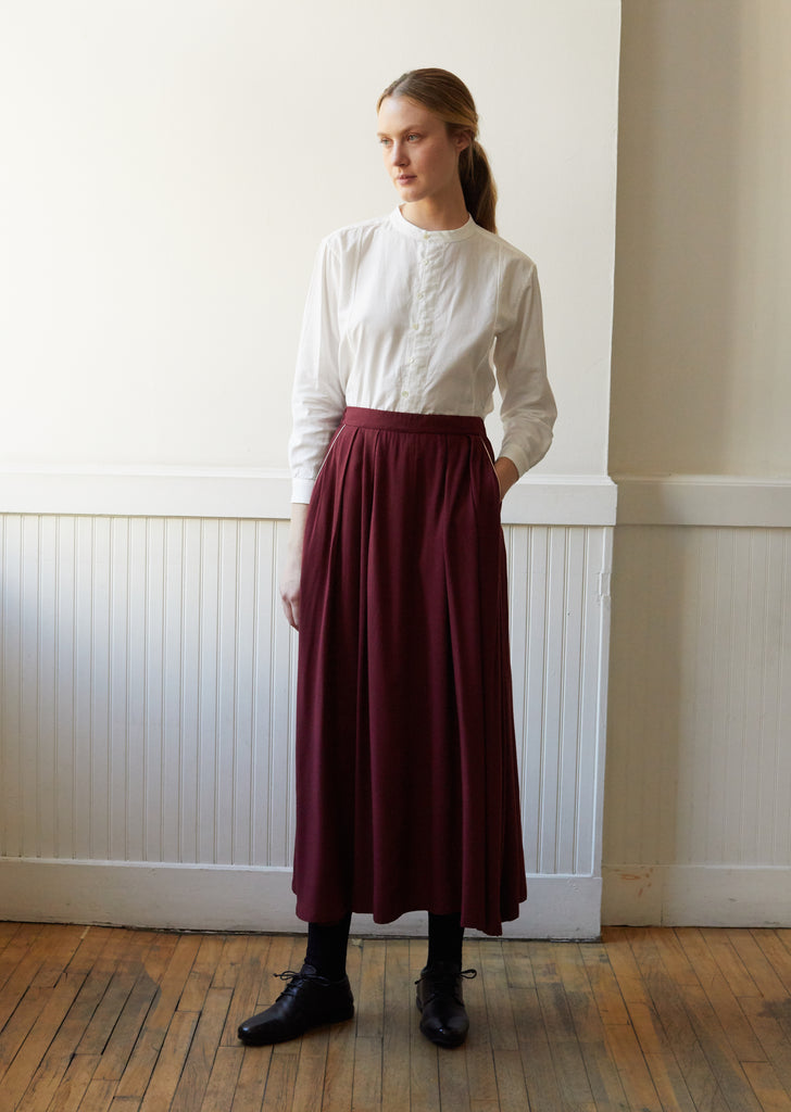 Women Rayon Twill Piped Pocket Flared Skirt