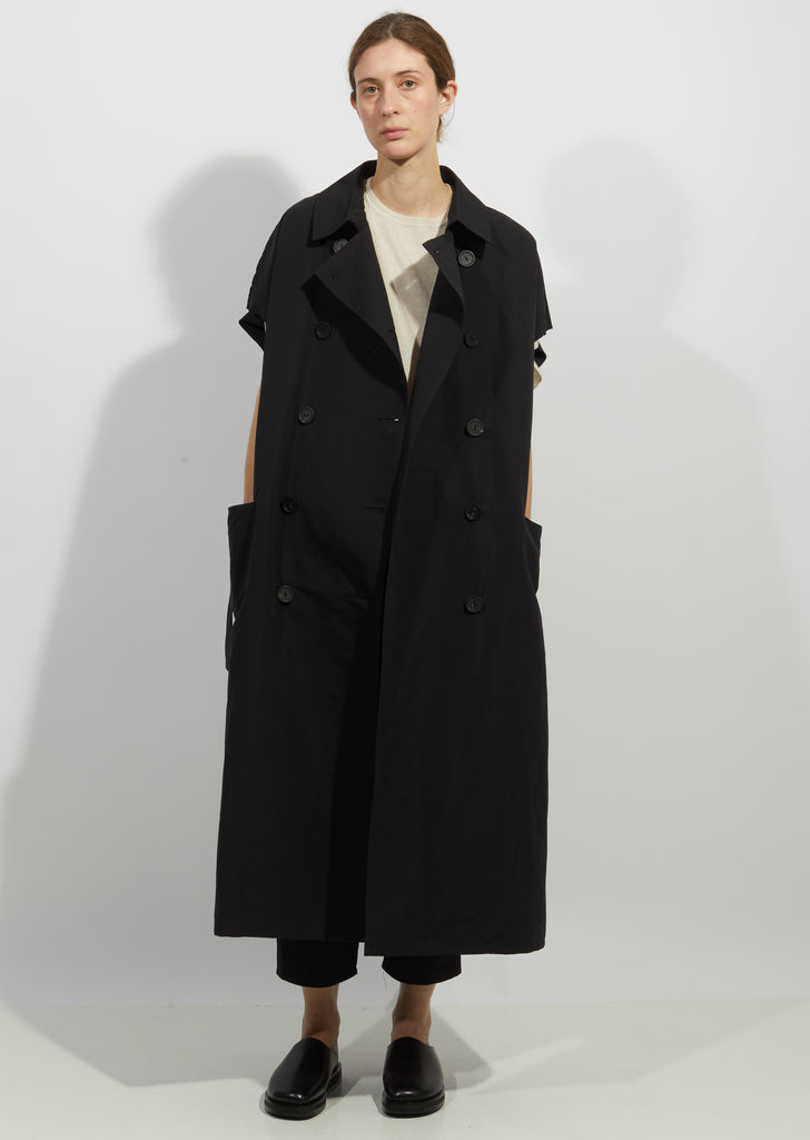 Cotton & Linen Sleeveless Trench