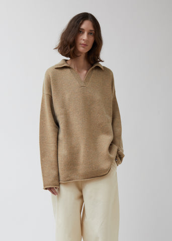 Jules Collared V-Neck Sweater