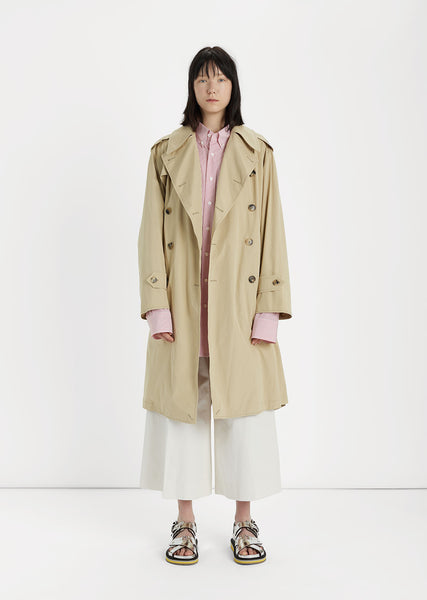 Convertible Popeline Trench Dress