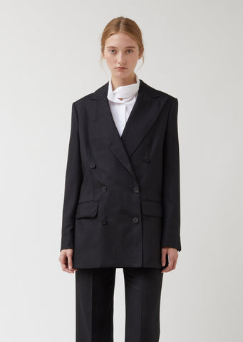 Suiting Tailored Silk-Wool Blend Blazer