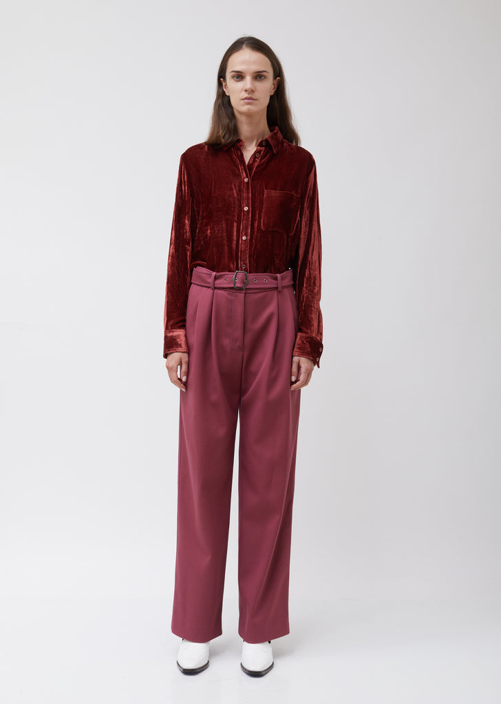 Blanche Double Face Twill Wide Leg Pant