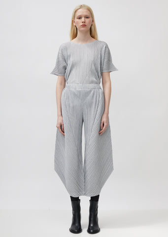 Pleated Angled Trousers