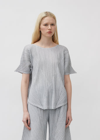 Pleated Angled Blouse