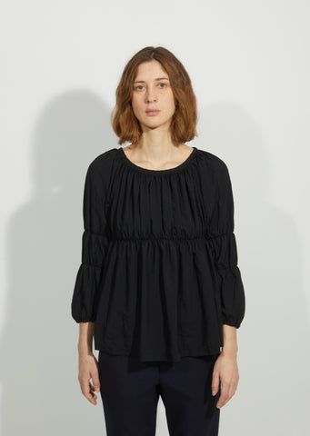 Garment Treated Cinched Blouse