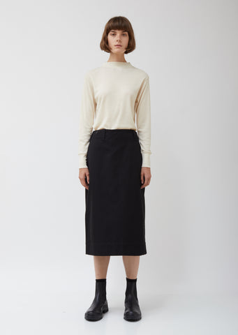 Wool Cotton Blend Utility Skirt