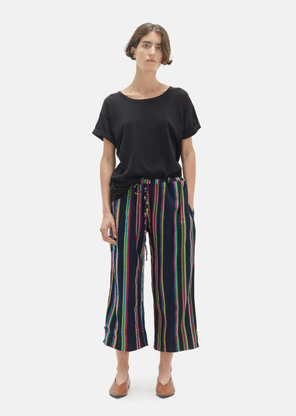 Striped Wool Drawstring Trouser
