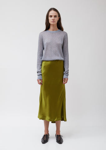 Xael Double Face Silk Bias Midi Skirt