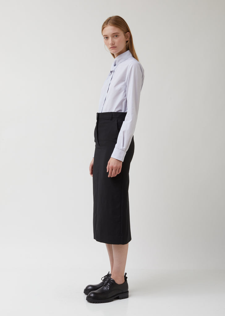 Wool Blend Suiting Tailored Skirt