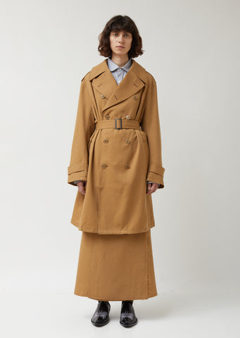 Wool Twill Trench Coat