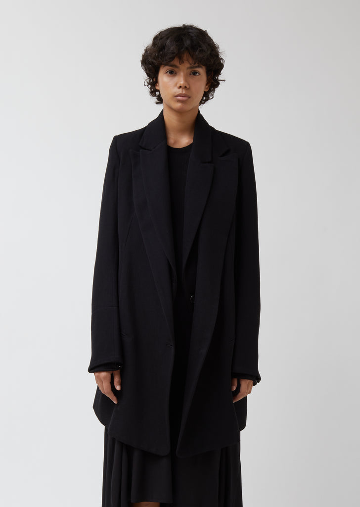 Double Collar Tailored Coat