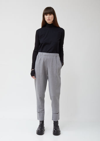 Provin Washed Denim Wool Trousers