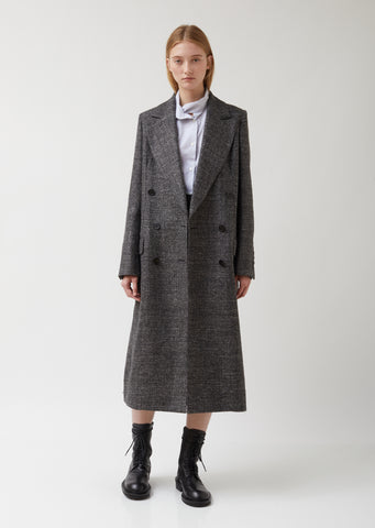 Long Tailored Wool Coat