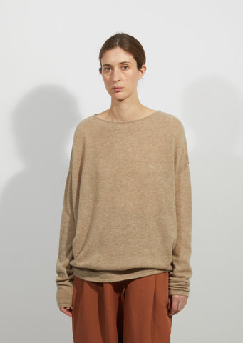 Cashmere & Silk Circle Sweater