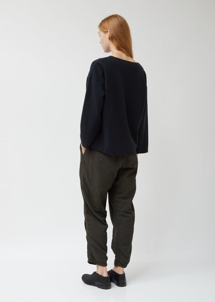 Navy Wool Pullover