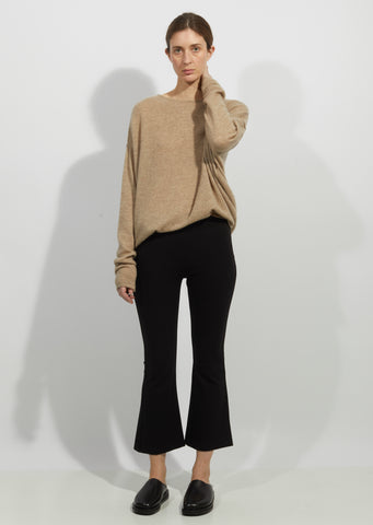 Viscose Blend Flared Pants