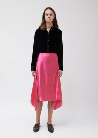 Darby Satin Asymmetric Skirt