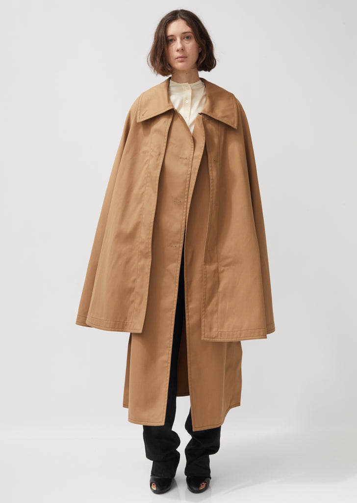 Trench Cotton Cape Coat