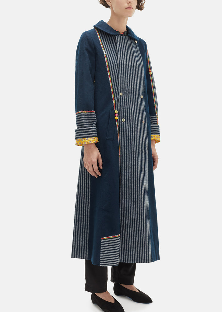 Checkered Wool Reversible Coat