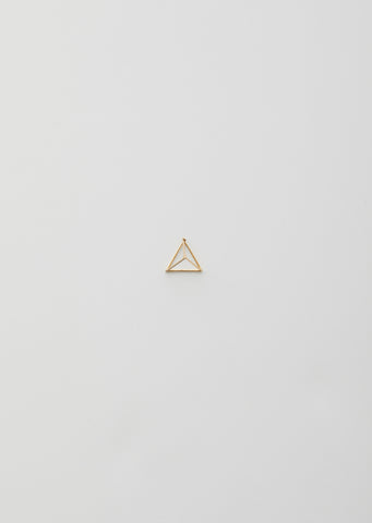 15MM 3D TRIANGLE EARRING WITH DIAMONDS