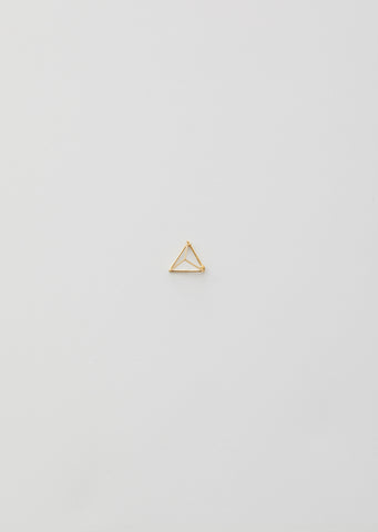 15MM 3D TRIANGLE EARRING