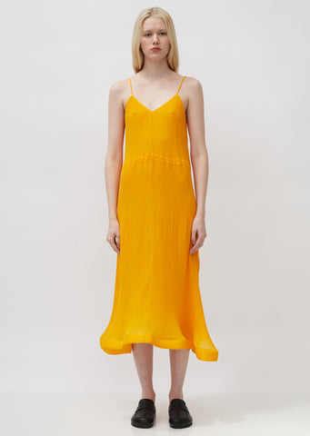 Trumpet Hem Pleat Dress
