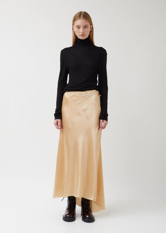 Long Silk Satin Skirt