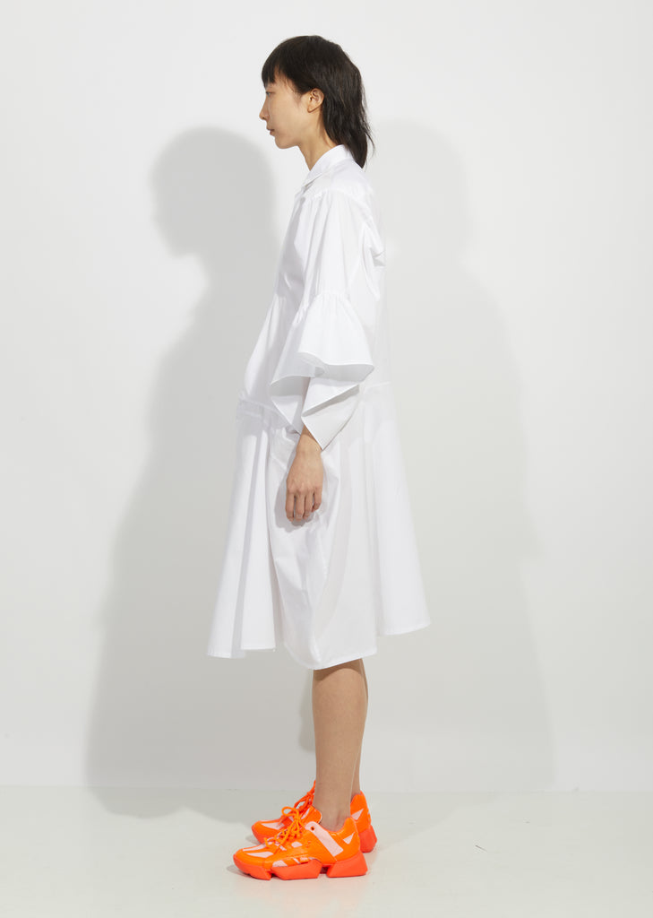 Cotton Broad Button Down Dress