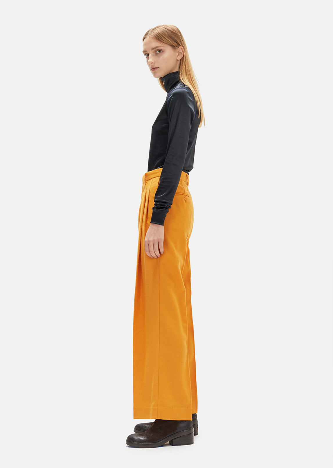 Wool Pleat Trousers