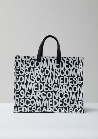 Printed Synthetic Leather Tote Bag
