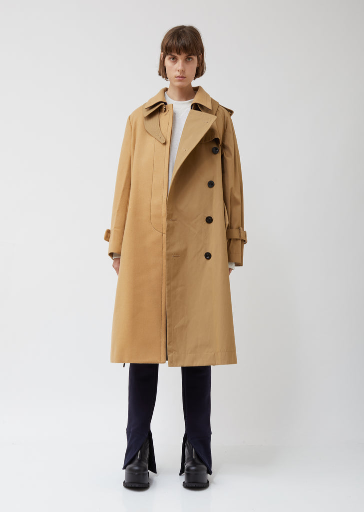 Wool Melton x Cotton Coat