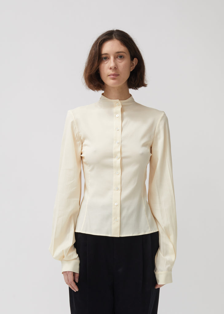 Stretch Silk & Wool Second Skin Blouse