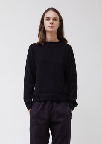 Black Roll Neck Cashmere Sweater