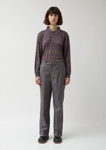 Elastic Poly Tweed Side Tab Trouser