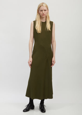 Bias-Cut Sleeveless Dress