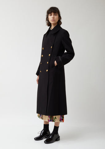 Wool Acrylic Cloth x Pile Jacquard Coat