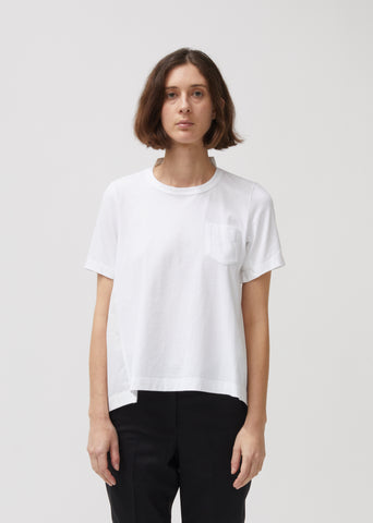 Cotton Jersey & Poplin T-Shirt
