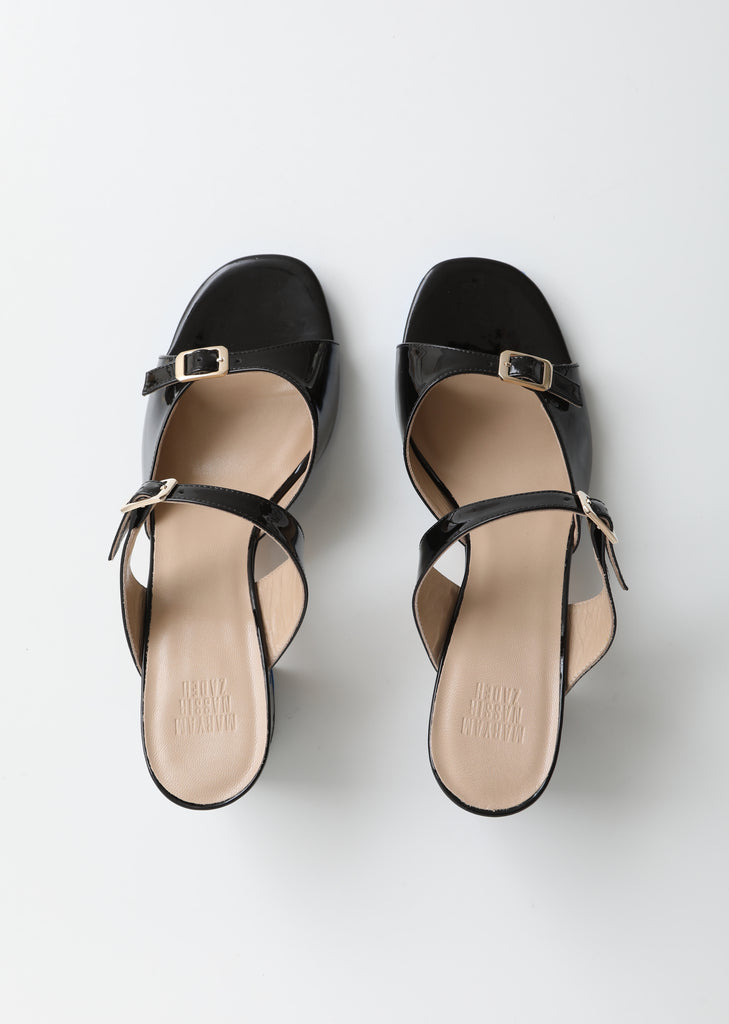 Una Heeled Leather Sandals