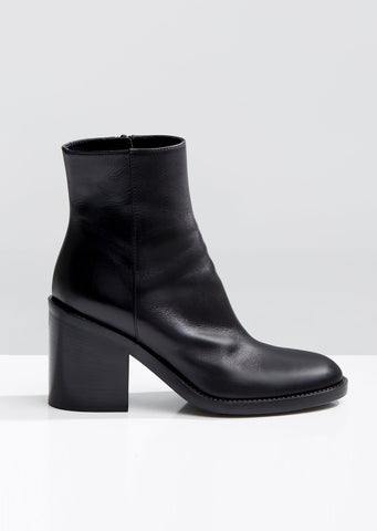 Stacked Heeled Ankle Boots