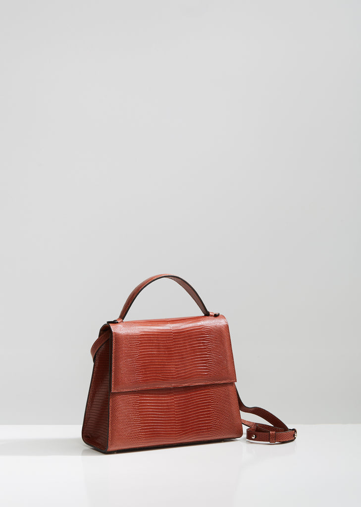 Lizard Top Handle Bag
