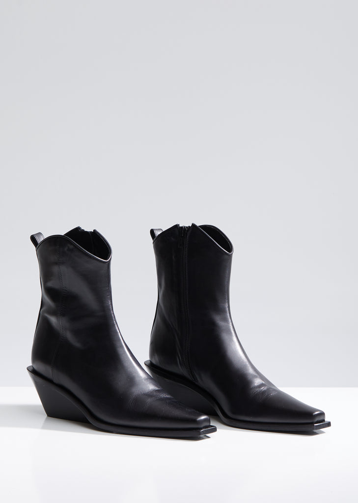 Heeled Western Ankle Boots