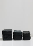 Set of 3 Woven Seagrass Storage Boxes